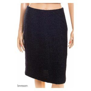 CHANEL Shimmery Tweed Pencil Skirt